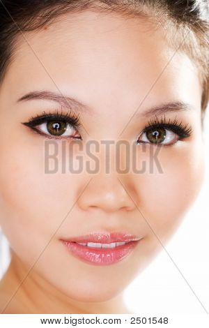 Facial Closeup Asian Girl
