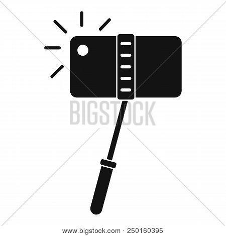 Take A Photo At Monopod Icon. Simple Illustration Of Take A Photo At Monopod Vector Icon For Web Des