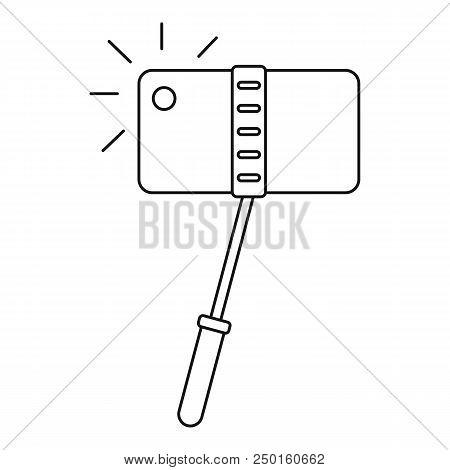 Take Photo Monopod Icon. Outline Take Photo Monopod Vector Icon For Web Design Isolated On White Bac