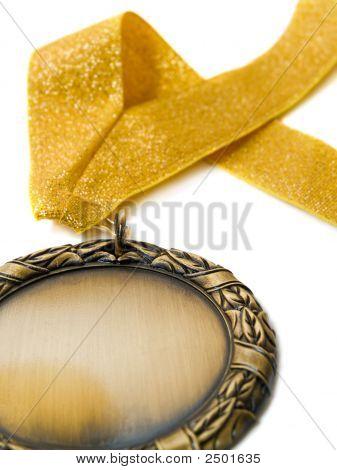 Gold Medal And Ribbon