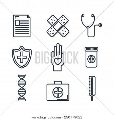 Healthcare Medical Set Icons Vector Illustration Design