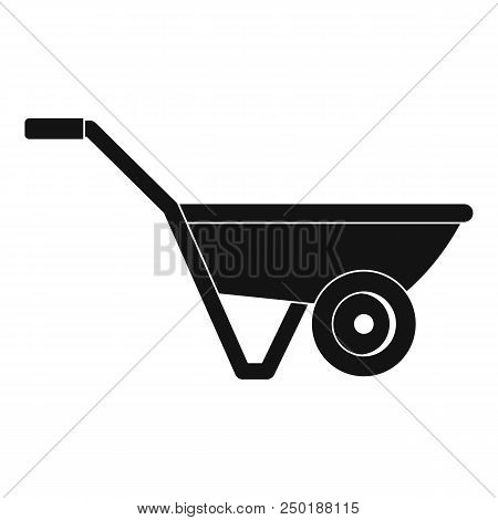 Hand Truck One Wheel Icon. Simple Illustration Of Hand Truck One Wheel Vector Icon For Web Design Is