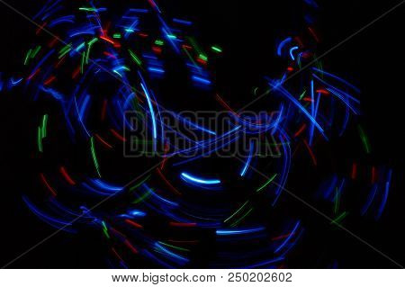 Long Exposure Light Trails / Colourful Lights Abstract.