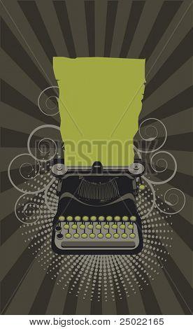 typewriter.Vector  - green