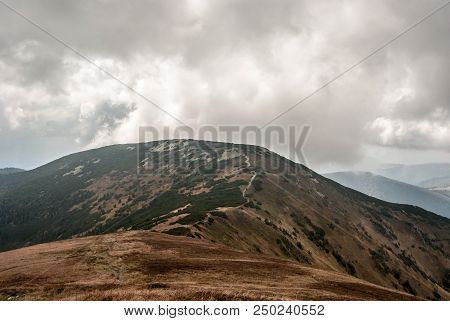 Prasiva Hill In Westernmost Part Of Nizke Tatry Mountains In Slovakia During Autumn