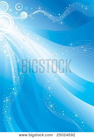 vector background design, shiny stars flowing space