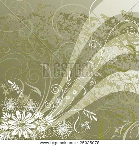 Floral background design, vector illustration layered.