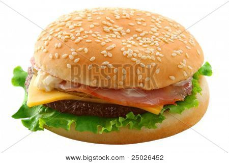 cheeseburger (isolated)