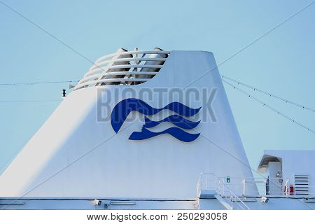 Velsen, The Netherlands - July 17th 2018: Pacific Princess Operated By Princess Cruises And P&o Crui
