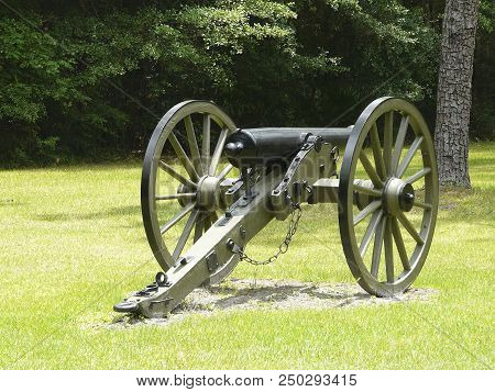 This cannon is at Olustee Battlefield Historic State Park, site of Florida's largest Civil War battle (Ocean Pond) and annual reenactment, Lake City. poster