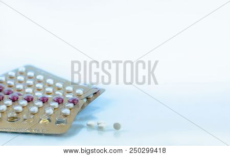 Oral Contraceptive Pills. Birth Control Pills. Hormones For Contraception. Family Planning, Hormonal