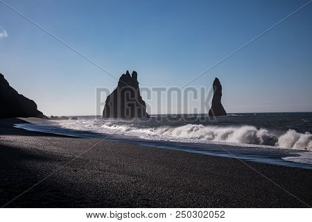 Dyrhólaey Promontory Located On The South Coast Of Iceland