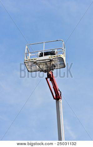 white hydraulic construction cradle