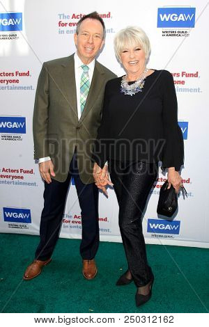 LOS ANGELES - JUN 11: David Rambo, Lorna Luft at The Actors Fund's 22nd Annual Tony Awards Viewing Party at the Skirball Cultural Center on June 10, 2018 in Los Angeles, CA