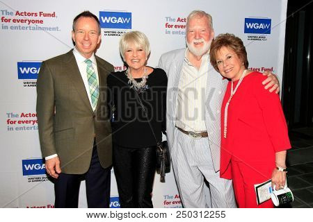 LOS ANGELES - JUN 11: David Rambo, Lorna Luft, Ted Heyck, Kate Johnson at The Actors Fund's 22nd Annual Tony Awards Viewing Party at the Skirball Cultural Center on June 10, 2018 in Los Angeles, CA