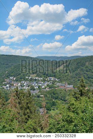 Village of Heimbach in Eifel National park,North Rhine westphalia,Germany poster