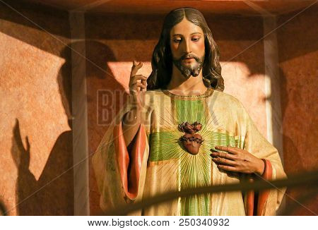 Statue Of Jesus And The Sacred Heart
