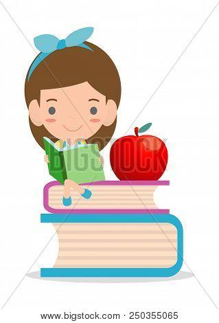 Cute Kids Reading Books,cute Children Reading Books, Happy Children While Reading Books, Kids While