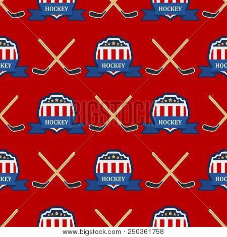 Sport Game Vector Hockey Team Play Tournament Label Champion Emblem League Competition Illustration.