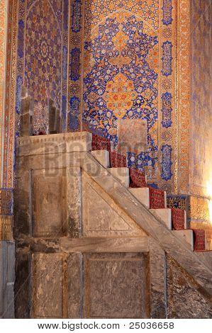 Staircase In Tilya Kori Madrasah