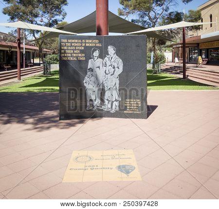 Broken Hill, New South Wales, Australia, March 2018 - A Memorial Dedicated To The Women Of Broken Hi