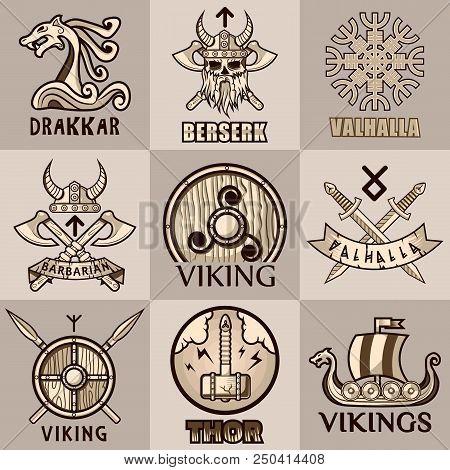 Viking Symbols Logo Vector Photo Free Trial Bigstock