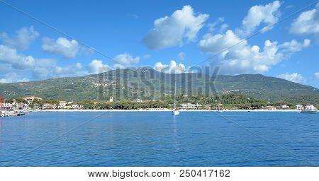 Panoramic View Of Marina Di Campo On Island Of Elba,mediterranean Sea,tuscany,italy