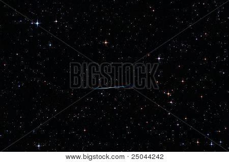Meteor Crossing The Starry Sky
