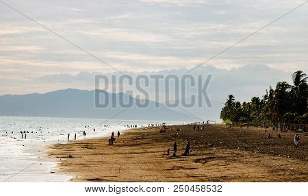 View Of Volcanic Beach In Puntarenas, Costa Rica.