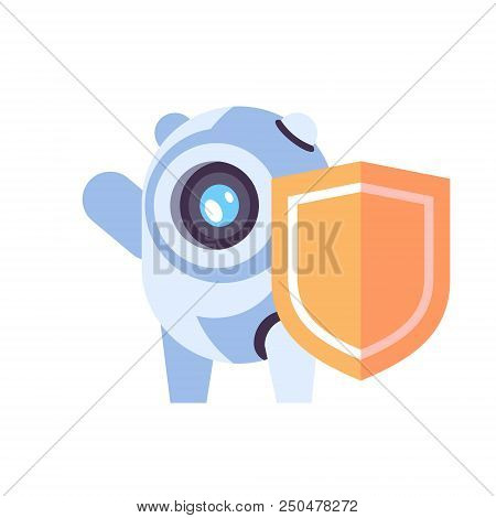 Chat Bot Robot Shield Protection Concept Artificial Intelligence Privacy Database Chatbot Technology