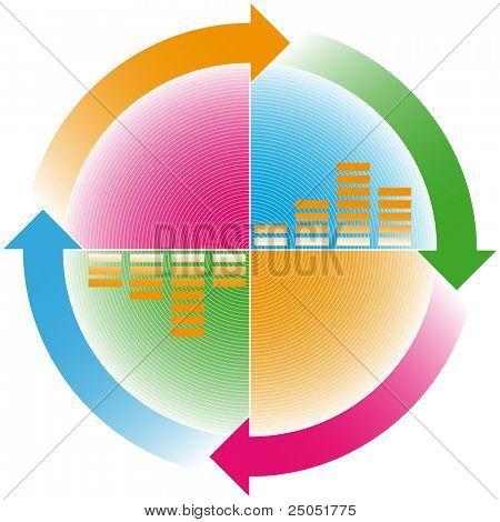colorful cyclic arrows