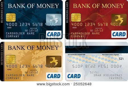 Credit Cards vector set
