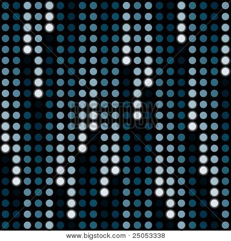 cosmic rain of halftone dots (seamless background)