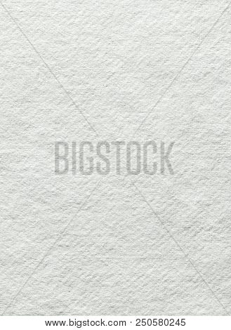 Close-up View On Textured White Blank Paper Canvas