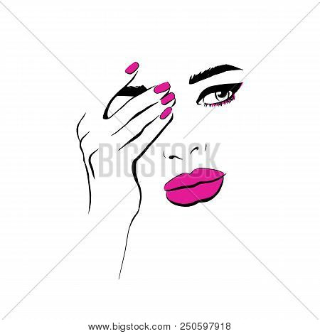 Fashion Woman Pink Vector Photo Free Trial Bigstock