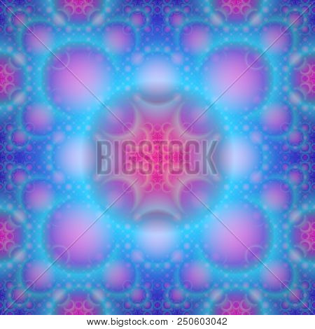 Continuous  fractal astral worlds pattern. Spiritual trance vision. poster