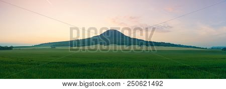 Oblik Hill. Czech Republic. It Is The Unique Basanite Hill About 6 Km Northwards From Louny.one Of T