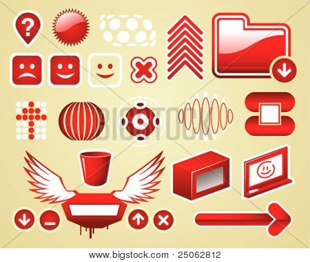 graphic elements set (icons, abstract and simple-form elements)