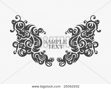 stylized vector border for design