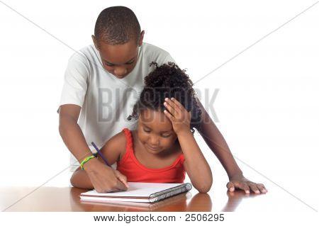 Kids Studing Together