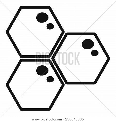 Honey Comb Icon. Simple Illustration Of Honey Comb Vector Icon For Web Design Isolated On White Back