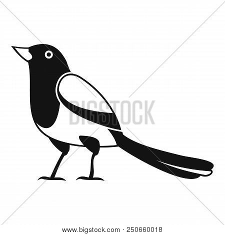 Strange Magpie Icon. Simple Illustration Of Strange Magpie Vector Icon For Web Design Isolated On Wh