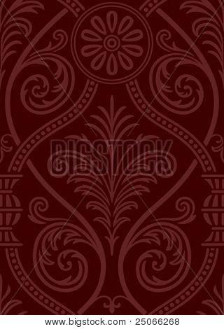 Seamless gothic Damask Web Background