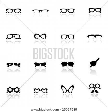 Icons set  Eye glasses
