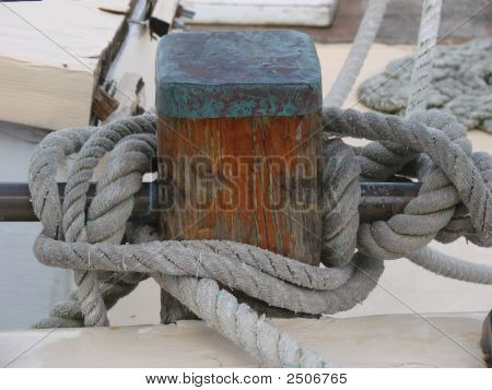 sailboat details rope line connected