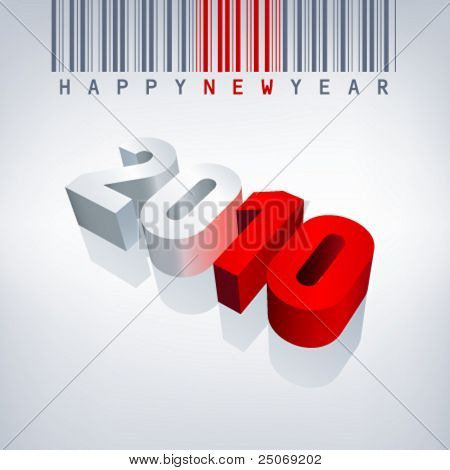 2010 vector greeting card. Editable.