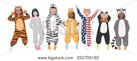 Plush One-piece Pajamas For Children