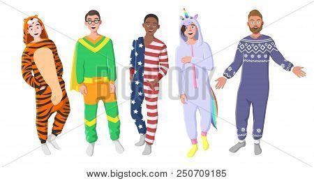 Men's Plush One-piece Pajamas