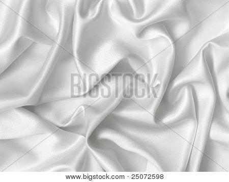 Elegant folds of white silk.