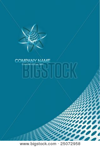 Abstract company page with logo space.